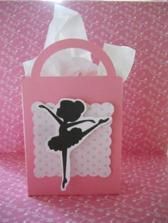 Ballerina party favor boxes for small snacks at the party table or favors.  Contact us to order,  $1.25