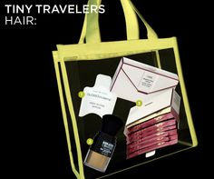 Keep your tresses looking fabulous even when you're traveling. Pick up an Oribe Beautiful Color Travel Set, which includes travel-ready envelopes of your favorite shampoos, conditioners, and masques.