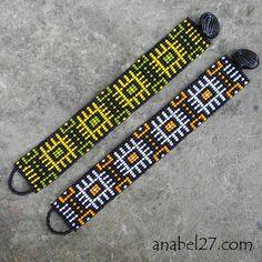 Loom Bracelet Patterns, Diy Friendship Bracelets Patterns, Bead Loom Bracelets, Bead Loom Patterns, Jewelry Patterns, Bead Embroidery Patterns, Beading Patterns Free, Beading Ideas, Beading Supplies