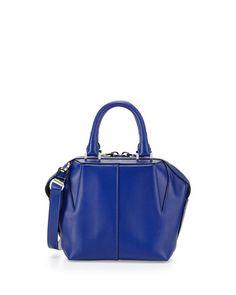 V2JKP Alexander Wang Prisma Structured Leather Satchel Bag, Vein