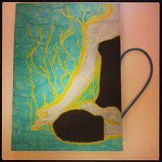 Resultado final: #cuaderno pintado #yogapose, #yogatitude #yogalove #yogasana #yogalife #loto #hathayoga #hechoamano #hechoconcariño