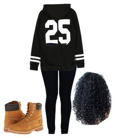 """""""windy day?"""" by neca-xoxo ❤ liked on Polyvore featuring Armani Jeans and Timberland"""