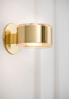 Bathroom Sconces - One Light Brass Bathroom Sconce