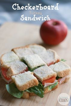 Cut and flip a few sandwich sections to make a checkerboard pattern, back to school lunch success. School lunch ideas and hacks to beat the mundane. #kraftwhatscooking