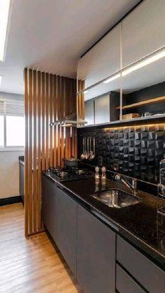 Modern Kitchen Interiors, Luxury Kitchen Design, Kitchen Room Design, Home Room Design, Home Decor Kitchen, Interior Design Kitchen, Kitchen Furniture, Kitchen Ideas, Small Modern Kitchens