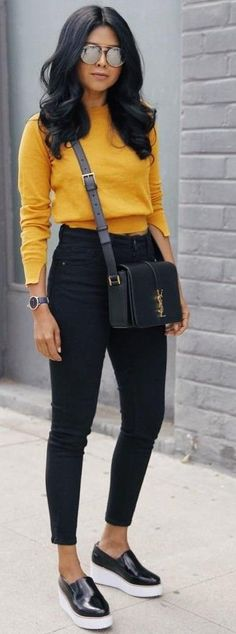 Mustard + Black Source #fall_style_photoshoot