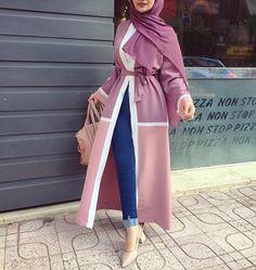 Modest Fashion Hijab, Modern Hijab Fashion, Islamic Fashion, Hijab Chic, Abaya Fashion, Muslim Fashion, Modest Outfits, Fashion Outfits, Mode Abaya
