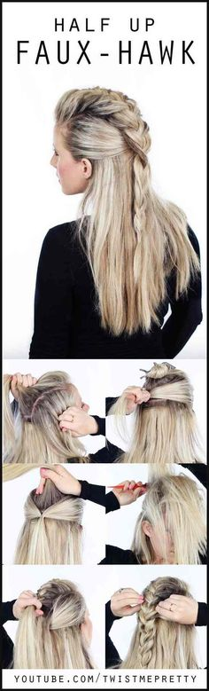 806 best Lange Frisuren images on Pinterest | Long hair, Long hair ... | Einfache Frisuren