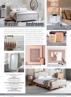 ~ Master the bedroom ~ A fresh yet subtle spring look Elephants Breath, Little Bit Of Love, Hampshire, Bed Frame, King Size, Home And Garden, Gardens, Homes