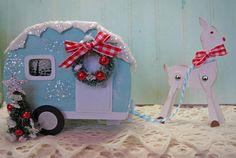 Happy Camper with Reindeer Cut file