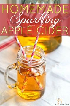 Simple and delicious!! Tastes just like Martinelli's (but far less expensive). This homemade sparkling cider is going to rock your world! All you need are 2 ingredients and your guests will never know the difference! Homemade Sparkling Apple Cider