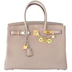 14c560a0b0b Hermes Gris Tourterelle 35cm Dove Grey Togo Birkin with Gold Hardware Gris  Tourterelle