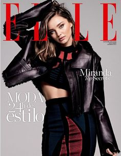 Miranda Kerr for Elle Spain November 2016 Cover: