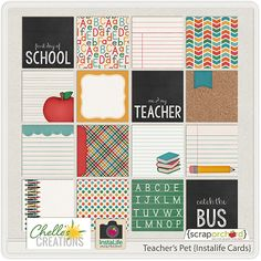 Teacher's Pet {instaLife cards} Chelle's Creations, ScrapOrchard.com