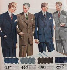 1940s men's pinstripe suits, 1942                                                                                                                                                                                 More