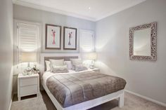 Guest bedroom in the Montego - See it at North Lakes display village Brisbane Dream Bedroom, Master Bedroom, Mcdonald Jones Homes, New Home Builders, Display Homes, Create Space, Girl Room, Brisbane Queensland, New Homes
