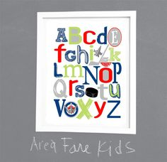WINNIPEG JETS abc art print by AreaFareKids on Etsy, $15.00