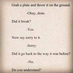 How does sorry work?