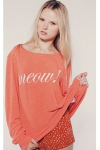 Wildfox Couture Meow Baggy Beach Jumper www.hintboutique.com
