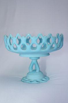 blue milk glass