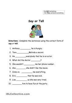 глаголы - say vs tell