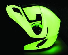 Glow in the dark helmet...Cool and it's good because u could definitely see someone riding a motorcycle with this helmet!!!!