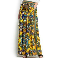 3+ Items of 30% OFF ALL WEEK  Gorgeous print. Very light. Adjustable waist. Pockets. Lenght to a 5.4f. Worn once Mango Skirts Maxi