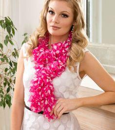 Pretty crocheted sweetheart ruffle scarf!