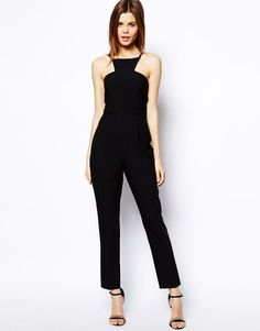98d41567fe7 ASOS Jumpsuit with Racer Front Detail- summer date outfit!