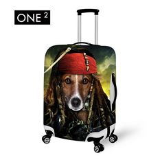 """ONE2 Animal Imitation Star Style Design 3D Printing in Women/Men Travel Accessories Suitcase Protective Cover  22-26"""" luggage"""