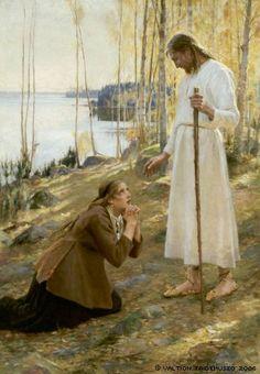 Albert Edelfelt: Christ and Mary Magdalene, a Finnish Legend.1890. Finnish National Gallery