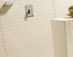 Absolute ceramic wall tile in Cream - Diamond, Cube, Wave http://www.pentalonline.com/ceramic.php