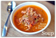 Bean, Bacon & Ham Soup