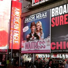 I finally had the fortune of watching #Waitress on #broadway this winter scored by @sarabareilles. This was an exciting cast featuring @bwolfepack who has previously starred as Cathy in The Last Five Years (one of my favourite musicals!) 2-time Tony winner John Callum and @jason_mraz in his broadway debut.  As musicals go it doesnt have the fervour and intensity of Les Miserables the heartwarming and tear-jerking tale of Wicked or the vivacity and zeal of Hamilton. To describe it callously…