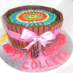 M + KitKat Cake....yummy!