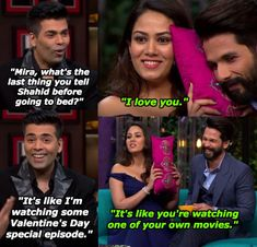 And when she shaded Karan's inability to deal with her love for Shahid.