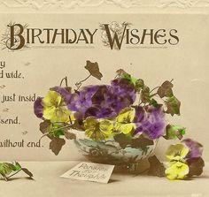 Loving Birthday Wishes Vintage Birthday Postcard by TheOldBarnDoor