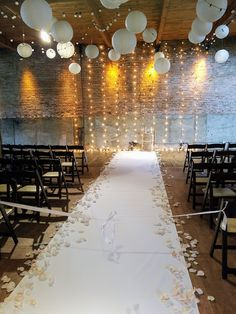 Ceremony decor by Studio AG at Gallery 1028