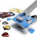 Pickmaster Plectrum Punch ~ not only an awesome way to recycle old plastic, but you'd never run out of picks either!
