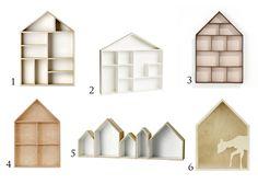 Półka w kształcie domku dla lalek w pokoju dziecięcym - Wronek