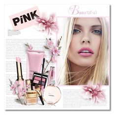 """""""Pink Kinds of Beautiful!"""" by bliznec ❤ liked on Polyvore featuring beauty, By Terry, Surratt, Clarins and Christian Dior"""