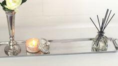 Slim dekorations bakke i sølv