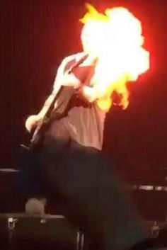 5 Seconds Of Summer's Michael Clifford Catches On Fire Live On Stage During Wembley Gig (VIDEO)
