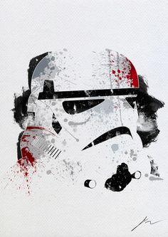 Portraits Star Wars en éclaboussures de peinture... - Stormtrooper -