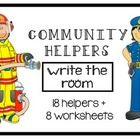 Write the room with the help of these community helpers!! In this file, you will receive 18 community helpers and 8 different worksheets.     Include...