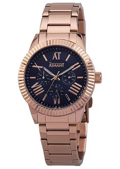 AIMANT Womens Victoria Rose Gold with Rose Gold Stainless Steel Bracelet Watch LVI-100SRG-2RG -- Want additional info? Click on the image.