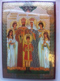 Russian Icons - Ikona Tsarstvennykh Muchennikov / Icon Royal Martyrs ( Mini )