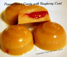 Peanut Butter Candy with Raspberry Curd