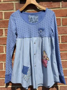 SALE Tunic upcycled clothing shabby