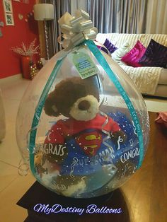 Balloon Gift Wrapping - Baby shower Gift